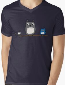 Totoro Owls Mens V-Neck T-Shirt