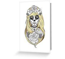 Santa Muerte Blond hair Greeting Card