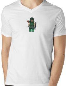 LEGO Green Arrow Mens V-Neck T-Shirt