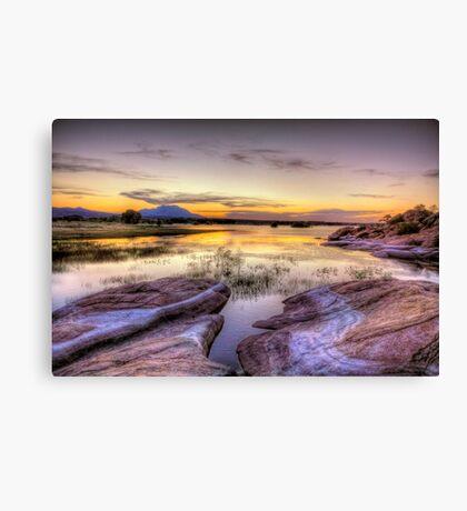 Willow Lake Dusk Canvas Print