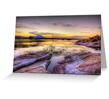 Willow Lake Dusk Greeting Card