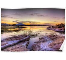 Willow Lake Dusk Poster