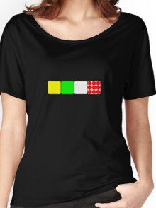 Tour de France Jerseys 2 Black Women's Relaxed Fit T-Shirt