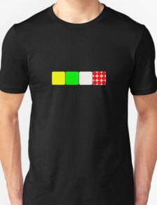Tour de France Jerseys 2 Black Unisex T-Shirt