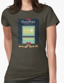 PowerPoint 1.0 for Macintosh, 1987 (25th Anniversary Re-Issue) Womens Fitted T-Shirt