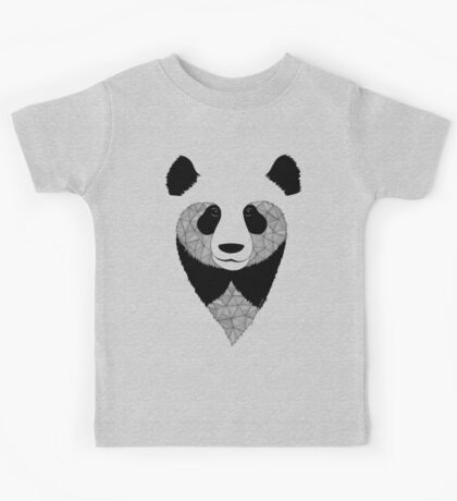 Panda black and white Kids Tee