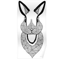 Rabbit black and white Poster