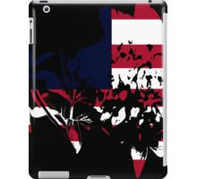 Flag Peony Black Background iPad Case/Skin