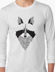 Raccoon black and white Long Sleeve T-Shirt