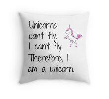 Unicorn design Throw Pillow