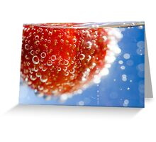 Bubbly Strawberry Greeting Card