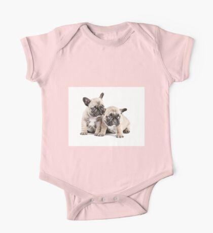 Frenchie Puppy Pals One Piece - Short Sleeve