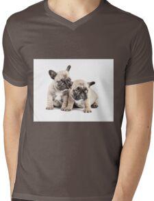 Frenchie Puppy Pals Mens V-Neck T-Shirt