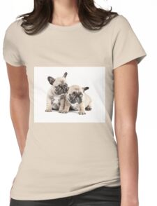 Frenchie Puppy Pals Womens Fitted T-Shirt