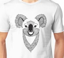 Koala black and white Unisex T-Shirt