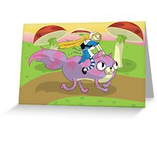 Adventure Time! with Alice and Chesh Greeting Card