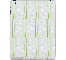 White Digital Lily of the Valley Floral Pattern iPad Case/Skin