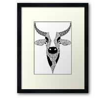 Cow black and white Framed Print