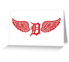 Detroit D Wing Greeting Card