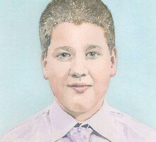 Portrait of a teenage boy by ian osborne
