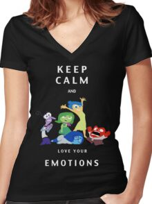 INSIDE OUT!  Women's Fitted V-Neck T-Shirt