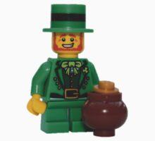 LEGO Leprechaun with a Pot of Gold Kids Tee