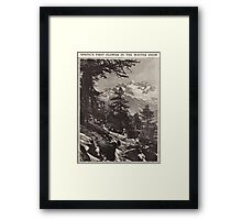 Spring's First Flower in the Winter Snow Framed Print