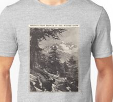 Spring's First Flower in the Winter Snow Unisex T-Shirt