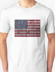 """Old Glory"" on wood Unisex T-Shirt"