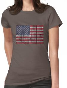 """""""Old Glory"""" on wood Womens Fitted T-Shirt"""