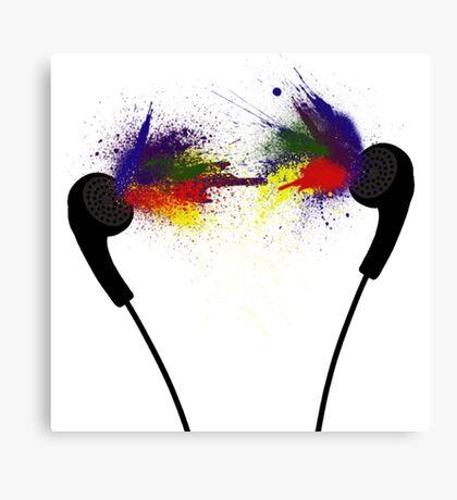Coloured Music Canvas Print