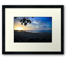 Shoal Point Coloured Sunset Framed Print