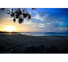 Shoal Point Coloured Sunset Photographic Print