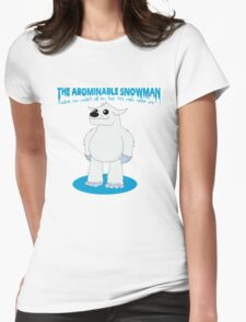 The Abominable Snowman  Womens Fitted T-Shirt