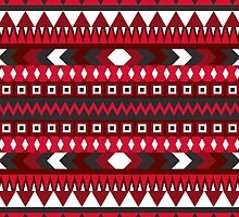 RED AZTEC PATTERN by Crimson-Shark