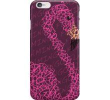 Typography Flamingo iPhone Case/Skin