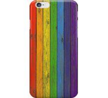 Rainbow fence iPhone Case/Skin