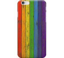 Rainbow fence iPhone Case/Skin