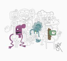 Doodle Tee by bradleycann