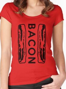 Bacon Strips Women's Fitted Scoop T-Shirt