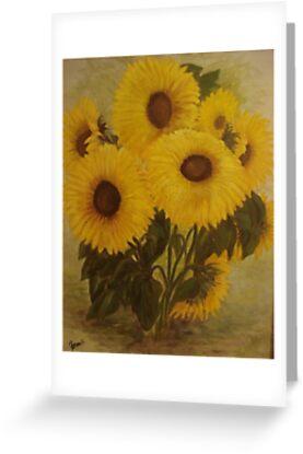 Sunflowers by Phyllis Frameli