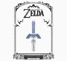 Zelda legend - link Sword doodle Kids Tee