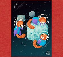 Red Space Pandas Tri-blend T-Shirt