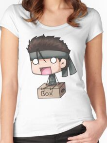 Metal Gear Box Women's Fitted Scoop T-Shirt