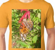 Butterfly on Pineapple Sage Unisex T-Shirt