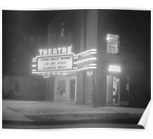 Movie Theater at Night, 1941 Poster