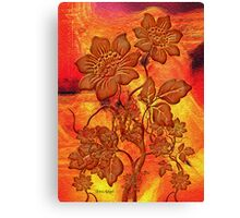 Fire Flowers Canvas Print