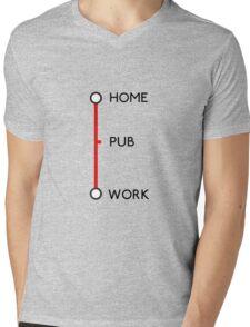 Tube journey Mens V-Neck T-Shirt