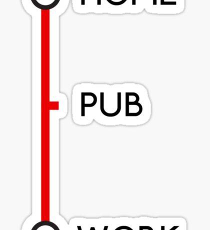 Tube journey Sticker