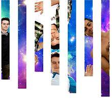 Dylan O'Brien Stripes Poster by jordams124